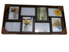 "Picture Frame 8 - 4""x6"" Collage Brown Mainstays"