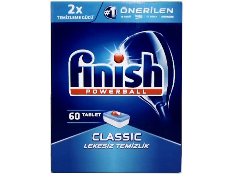 Dishwasher Tablets 60pk. Finish Powerball Classic