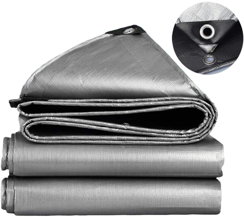 Tarp 20x30 footS HD Silver 180GSM 12 Mill 16x16 weave