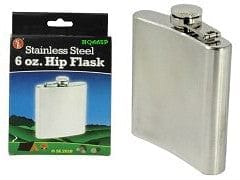 Hip Flask 6oz. Stainless Steel