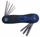 8 pc ball point hex key set metric fold-up