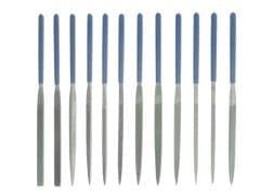 12 Pc 180mm Needle File W/plastic Handle Set