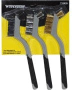 wire brush set 3 pc soft grip
