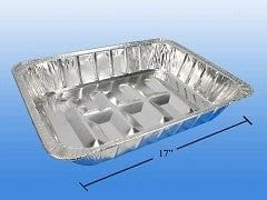 Roast pan - large foil rectangular 17x12.6x3 inch