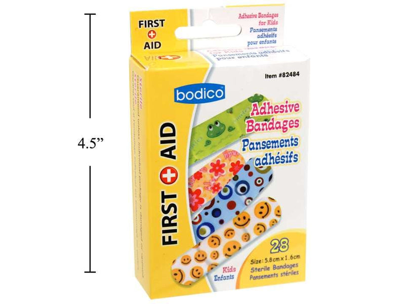 Bandages kids 28 pack 5.8x1.6cm first-aid bodico