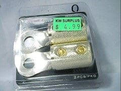 Ring terminal 0 gauge gold 4 pc