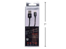 Cable Lightning charge and sync black 1 meter iFocus