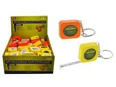 Measuring Tape Keychain 3' Yellow Or Orange