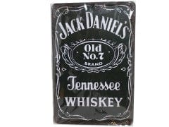 "Sign Metal 7.75""x11.75"" Jack Daniel's Tennessee Whiskey"