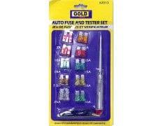 Fuses and testor set includes 10 Assorted ATC fuses