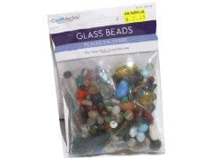 250 gms.Bulk Mix Glass Beads