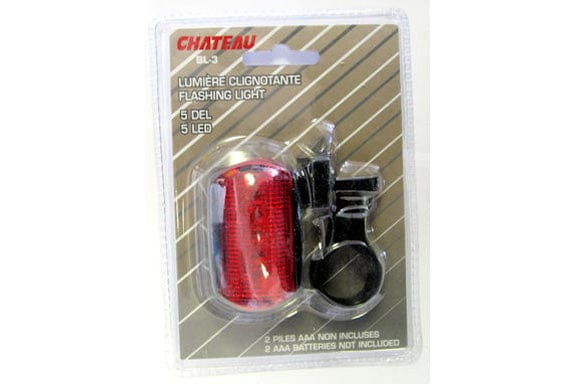 Bike flashing light red/white clamp on 7 led