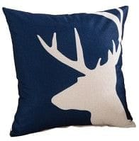 Cushion outdoor water resistant 18x18 inch - blue buck head