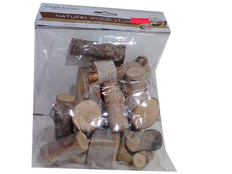 Craftwood 40z. Mini Natural Birch Wood Stumps