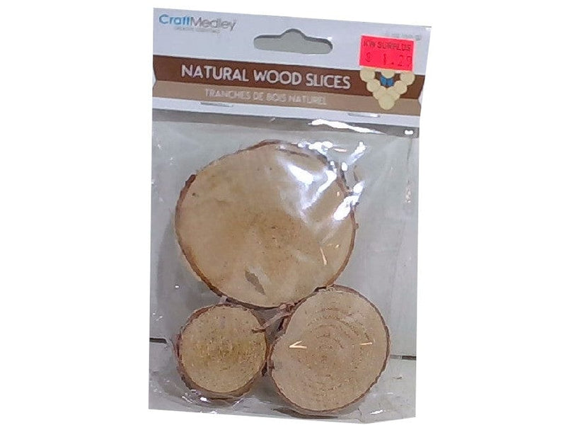 Craftwood 3cm.-6cm. 50g. Natural Birch Slices