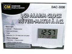 Alarm clock LCD 2 AA not included