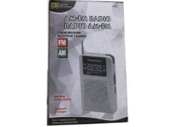 Radio AM/FM requires 2AAA batteries