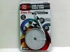 USB 2.0 to micro usb 6 foot flat cable for samsung/blackberry