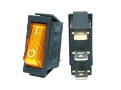 Switch Illuminated 110v 6a On-off Yellow rectangular