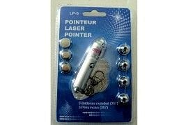 Laser pointer with 5 heads