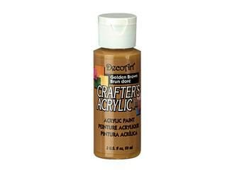 Crafters Acrylic Paint: 2oz Craft & Hobby  golden brown
