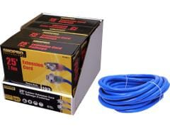 Extension cord SJTW 10/3 15A 25 foot 1 outlet lit ends