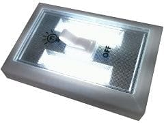 Light Switch with cob LEDs battery powered wall mountable