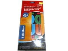 "Vinyl Adhesive Letters & Numbers Asst.Colours 2 & 1 ""sizes"