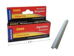 STAPLES STANDARD SIZE CHISEL POINT 5000/BX