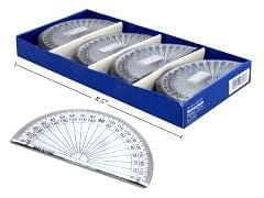 4 inch PROTRACTOR CLEAR, 48 PCS/DISPLAY BOX