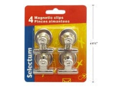 "3 PK MAGNETIC SILVER CLIPS, 32MM (1.2"")"
