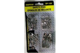 Safety Pins 125 pcs Assorted