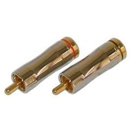 MALE RCA PLUG GOLD PLATED