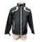 Men's Black North End Lightweight Jacket with White Stripes