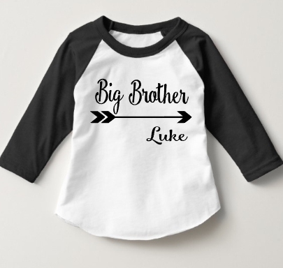Brother/Sister Shirt or Bodysuit Personalized