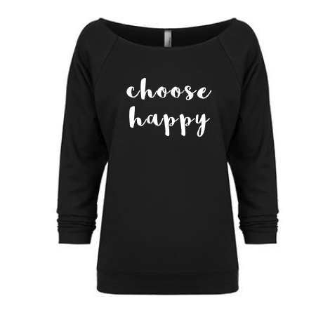 choose happy slouchy off shoulder shirt