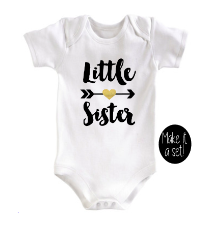 Little Sister Bodysuit - Sister set