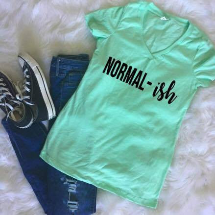 Normai(ish) Normalish Women Shirt Tee V neck