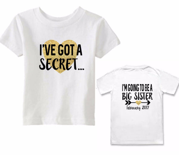 Big Sister Pregnancy Announcement Tee - Tulip + Vine