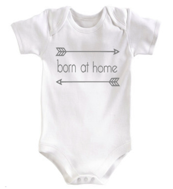 Born at home Infant Bodysuit - Tulip + Vine