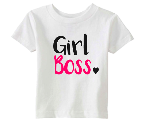 Girls Toddler Girl Boss Tee Shirt