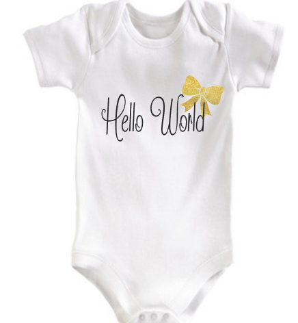 Hello World Baby Girl - Coming home outfit
