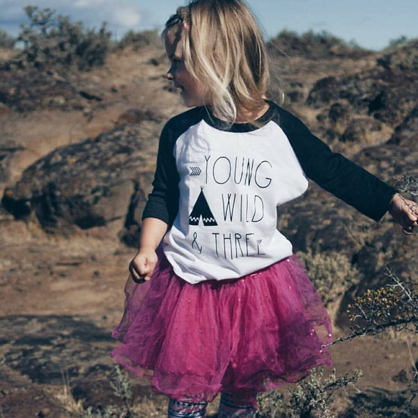 Young Wild & Three Raglan