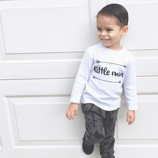 Little Man Baby or Toddler Tee Shirt