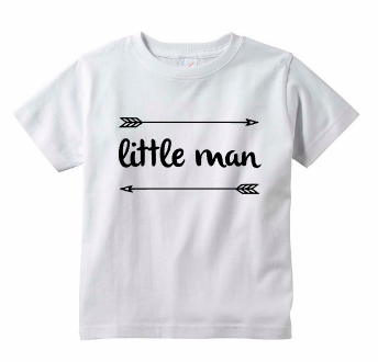 Little Man Baby Boy Toddler Arrow Tee Shirt
