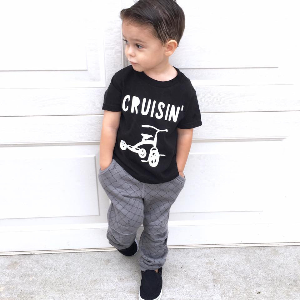 Cruisin Boys Tee Shirt Tricycle Trike Bike
