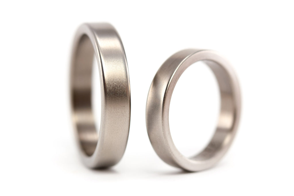 Matte titanium wedding bands (00002_4N4N)