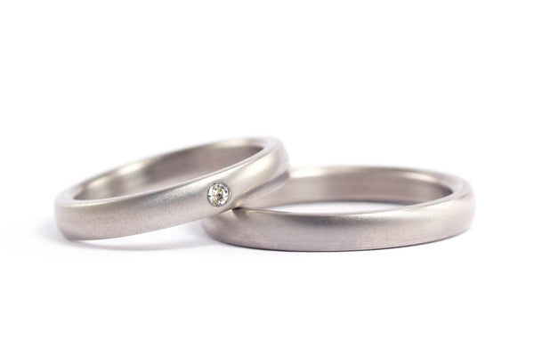Titanium wedding bands with Swarovski (00003_3S1_3N)