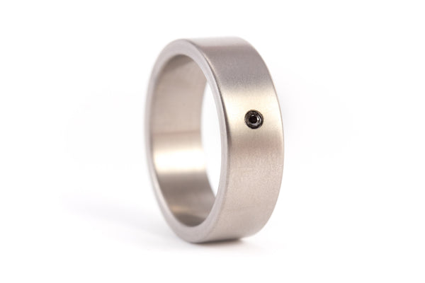 Titanium and graphite wedding bands with diamonds (00002_4D_01100_7Dn)
