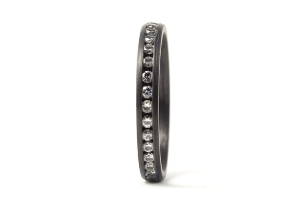 Carbon fiber ring with diamonds (00117_3D)